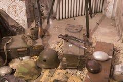 Museum av historien av militären av den ungerska armén med historiska utställningar och sammansättningar på temat av kriget Arkivfoto