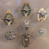 Museum av historien av militären av den ungerska armén med historiska utställningar och sammansättningar på temat av kriget Royaltyfria Foton