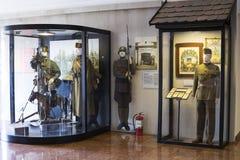Museum av historien av militären av den ungerska armén med historiska utställningar och sammansättningar på temat av kriget Arkivbilder