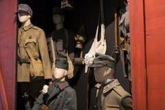 Museum av historien av militären av den ungerska armén med historiska utställningar och sammansättningar på temat av kriget Arkivbild