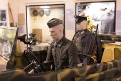 Museum av historien av militären av den ungerska armén med historiska utställningar och sammansättningar på temat av kriget Royaltyfria Bilder