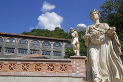 Museum av hydroelectricityen i Lancey Arkivbilder