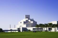 Museum av islamisk konstMIA med hans moderna arkitektur i Fotografering för Bildbyråer