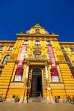 Museum av konsthantverk, Zagreb, Kroatien Arkivbilder