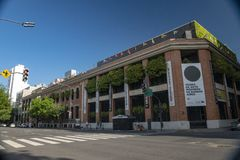 Museum av modern konstMAMBAEN i den gamla Sanen Telmo Neighborhood i Buenos Aires, Argentina arkivbild