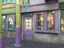 Museum av Muggle kuriositeter, universella studior, Orlando, FL Royaltyfri Fotografi