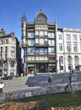 Museum av musikinstrument i Bryssel Arkivfoto