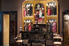 Museum av Poldisen Pezzoli, utläggning av lyx från samlingarna av adeln av Milan arkivfoto