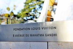 Museum av samtida konst av Louis Vuitton Foundation Arkivfoto