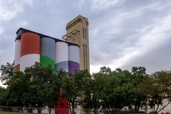 Museum av samtida konst av den Rosario makroen - Rosario, Santa Fe, Argentina arkivbilder
