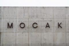 Museum av samtida konst i Krakow MOCAK royaltyfria bilder