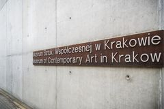 Museum av samtida konst i Krakow MOCAK royaltyfri bild