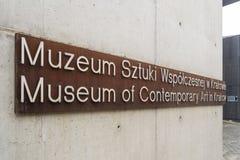 Museum av samtida konst i Krakow MOCAK arkivbilder
