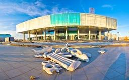 Museum av samtida konst i Zagreb royaltyfri fotografi