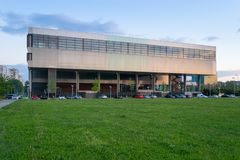 Museum av samtida konst i Zagreb Croatia arkivbilder