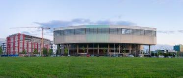 Museum av samtida konst i Zagreb Croatia royaltyfria foton