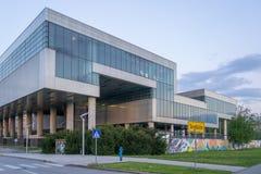 Museum av samtida konst i Zagreb Croatia royaltyfria bilder
