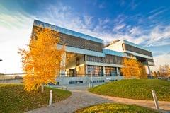 Museum av samtida konst i Zagreb yttersida arkivfoto