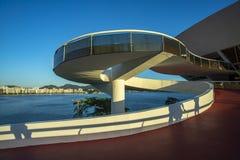 Museum av samtida konst av Niteroi Arkitekt Oscar Niemeyer fotografering för bildbyråer