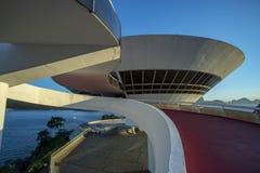 Museum av samtida konst av Niteroi Arkitekt Oscar Niemeyer royaltyfri foto