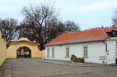 Museum av samtida konst på den Kampa ön, Prague, Tjeckien royaltyfri bild
