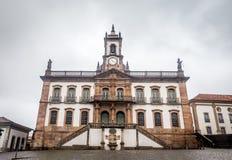 Museum av sveket av den Tiradentes fyrkanten i Ouro Preto, Brasilien royaltyfri fotografi