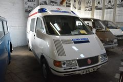 Museum av transport Bratislava - MIBRA-ambulans 2000 Royaltyfria Bilder