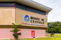 Museum av utrymme i Kourou, Franska Guyana Arkivbild