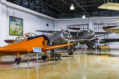 Museum of aviation in Istanbul is represented by a large collection of military civil aircraft and also the history of aviation in. ISTANBUL, TURKEY - 4 APRIL stock photography