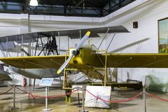 Museum of aviation in Istanbul is represented by a large collection of military civil aircraft and also the history of aviation in. ISTANBUL, TURKEY - 4 APRIL royalty free stock image