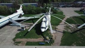 Museum of Aviation in Kyiv, Ukraine. Helicopter.