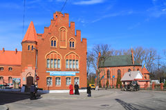 The museum of the Baltic Fleet and sea cathedral Sacred and Of St. George Stock Image