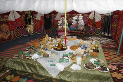 Museum. Bashkir national clothes and ornament. Republic of Bashkortostan Stock Photography