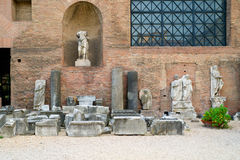 Museum of the baths of Diocletian in Rome Royalty Free Stock Images