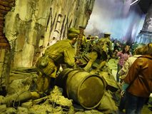 Museum of the battle of Berlin. Bloody battle for the capture of the capital of Nazi Germany. Details stock images