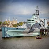 Museum battleship Royalty Free Stock Photos