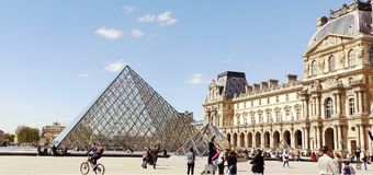 Museum or beautiful city in Paris. Stock Photography