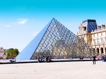 Museum or beautiful city in Paris. Royalty Free Stock Image