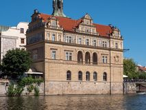 Museum Bedrich Smetana, formerly the Old Town Water Station in Prague, Czech Republic royalty free stock image