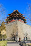 The museum of Beijing the imperial palace watchtower construction in China Royalty Free Stock Photography