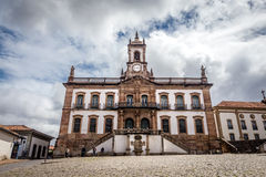 Museum of Betrayal of Tiradentes Square in Ouro Preto ,Brazil Stock Photography
