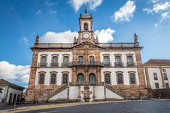 Museum of Betrayal of Tiradentes Square in Ouro Preto ,Brazil Royalty Free Stock Images
