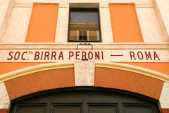 Museum Birra Peroni in Rom Stockbilder