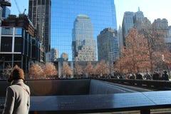 911 Museum - Bodennullpunkt-Denkmal Lizenzfreies Stockfoto