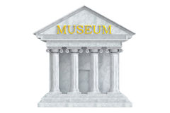 Museum building with columns Royalty Free Stock Photos