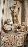 Statues and busts in Museum Capitoline. Stock Photography