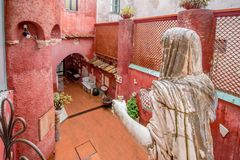 The museum Casa Rossa in Anacapri on the island of Capri, Italy. The small but famous museum Casa Rossa on the island Capri on a sunny spring day stock photo