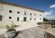 Museum of the casas reales. Museo museum of the casas reales de la with cannons santo domingo dominican republic stock photos