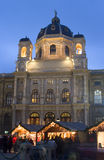 Museum and christmas-market in vienna Royalty Free Stock Photography