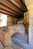Medieval gate called Porta del Morbio at Castle Fortress Stock Photos
